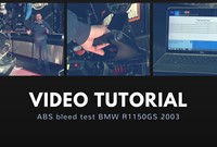 ABS bleed test BMW R1150GS 2003
