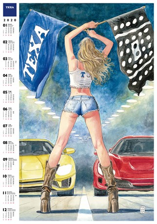 TEXA CELEBRATES 2020 WITH A CALENDAR SIGNED BY MILO MANARA