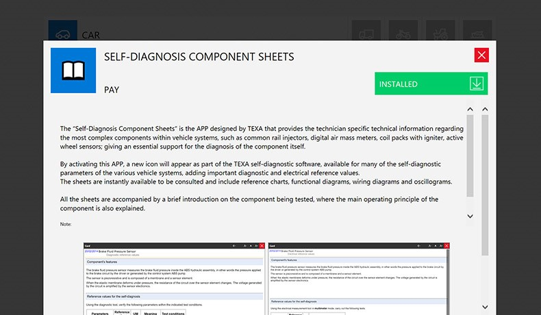 SELF-DIAGNOSTIC DEVICE SHEETS